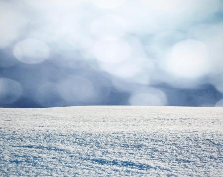 雪の中で冬の森