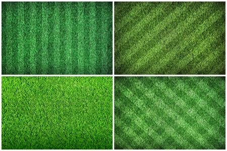 pasto sintetico: Fútbol campo de hierba verde Foto de archivo