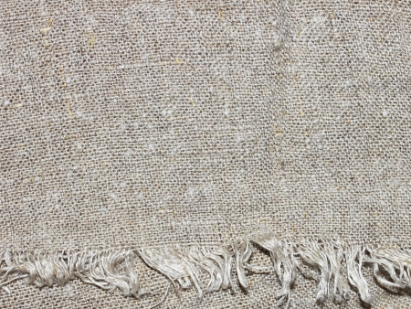 burlap sack: Sacking material with threads