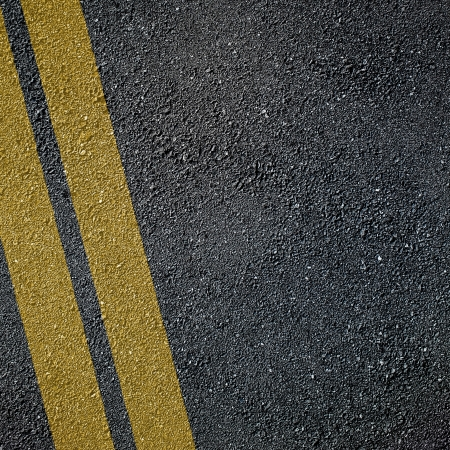 Asphalt surface of road with lines photo