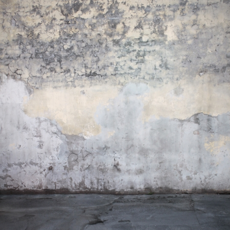 Grunge wall and floor interior photo