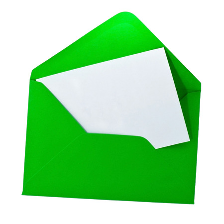 Help card in green envelope photo