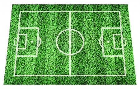 pasto sintetico: Green falló con línea de campo de fútbol o fútbol Foto de archivo