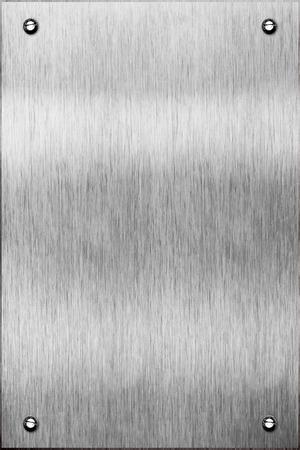 brushed aluminum: Brushed aluminum metal plate