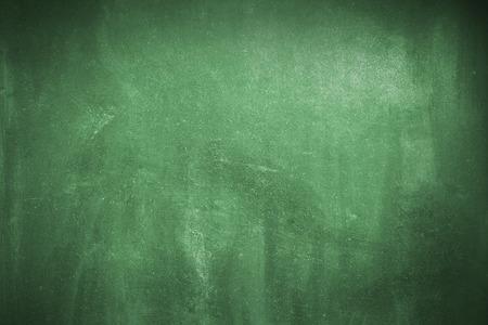 きれいにされた緑のチョーク ボード表面 写真素材