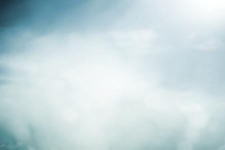 Morning fog in meadow 写真素材