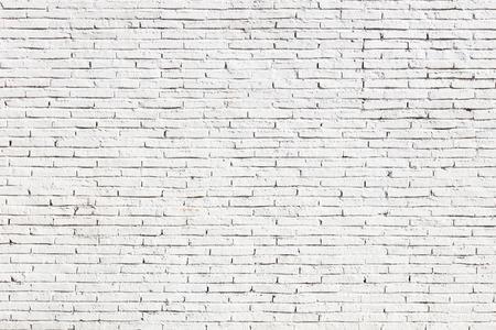 白い空白のレンガ壁の表面