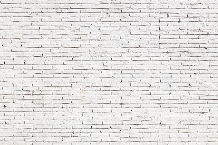brick facades: White blank brick wall surface