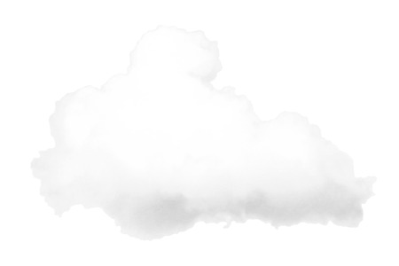 vapor trail: White cloud isolated on background