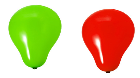 Green, red and yeallow baloons Stock Photo