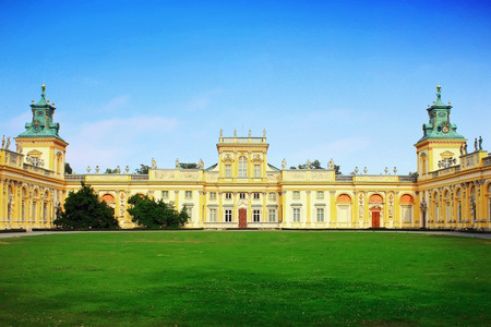 royal park: Wilanow palace in Warsaw, Poland