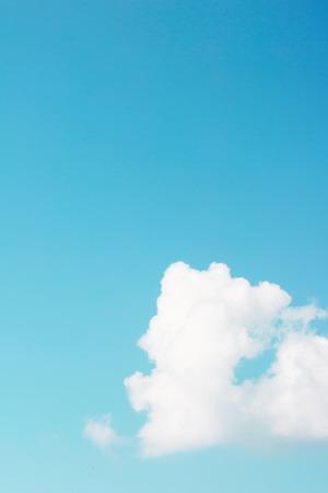 lone: Lone cloud on blank sky