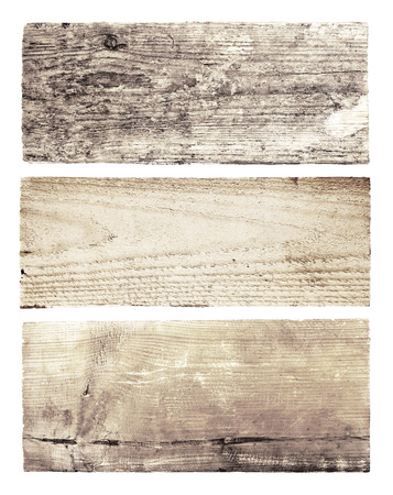 blank board: Set of wooden boards on white background