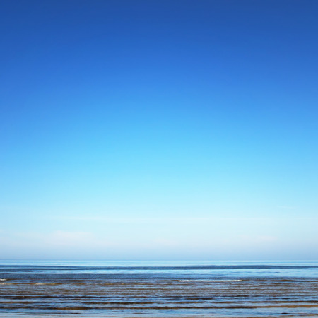 Sea view on spring day