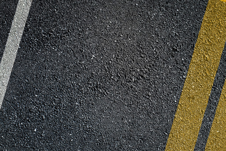 road surface: Asphalt surface of road with lines