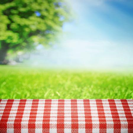 自然の中のピクニック