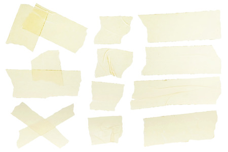 Different fragments of the yellow scotch
