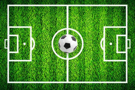 terrain de foot: Football ou sur le terrain de football vert
