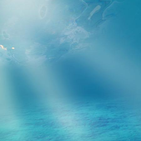 fish water: Light of sun underwater world