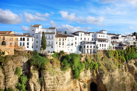 spain: Ronda city on sunny evening day, Andalucian city in Spain