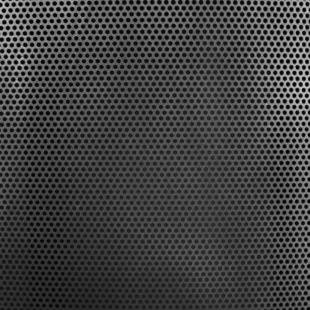 holed: Holed dark metal surface Stock Photo
