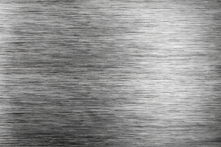 brushed: Brushed silver plate surface Stock Photo