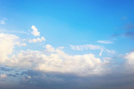 blue cloudy sky: Cloudy blue sky in evening