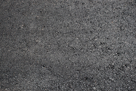 road surface: Black blank fresh road surface of asphalt Stock Photo