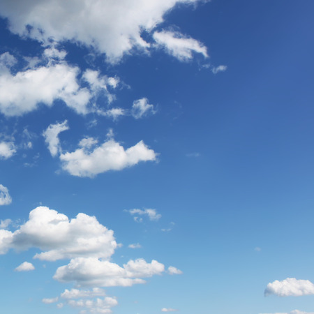 blu sky: Blu sky in small clouds Stock Photo