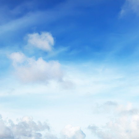 blue cloudy sky: Blue cloudy sky as background