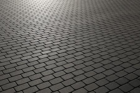 cobblestone: Cobblestone path in evening sunshine