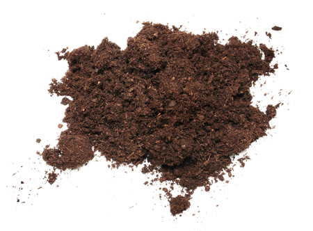 dirt background: Heop of dirt on the white background Stock Photo