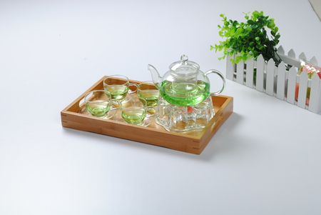 Close up view of tea set Archivio Fotografico