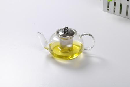 Glass teapot Archivio Fotografico