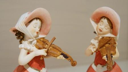The violin sculpture Archivio Fotografico