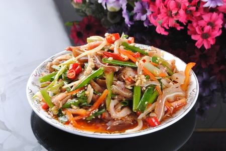 Chinese pig ear salad Archivio Fotografico