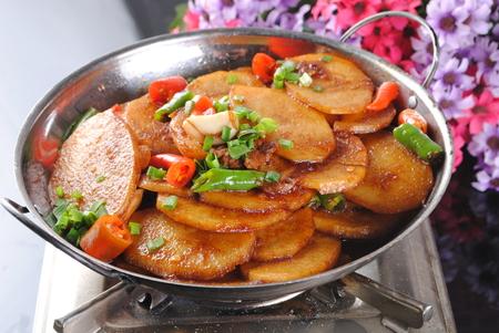 stir fried potatoes slice