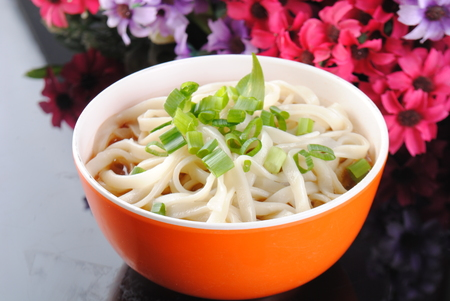 noodles in the bowl