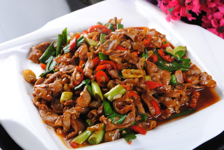 Hot and sour chicken giblets Archivio Fotografico