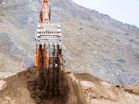 loader: Backhoe loader working in earthmoving