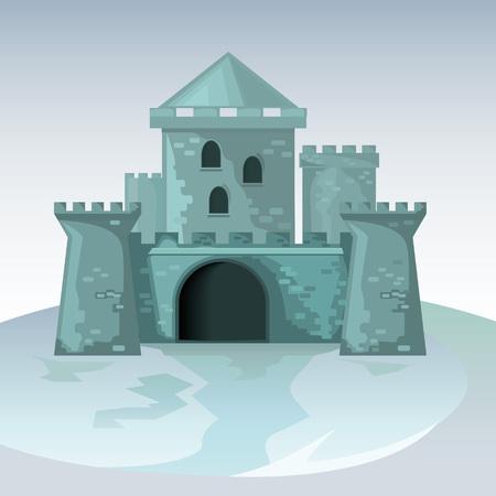 château en briques grises Vecteurs