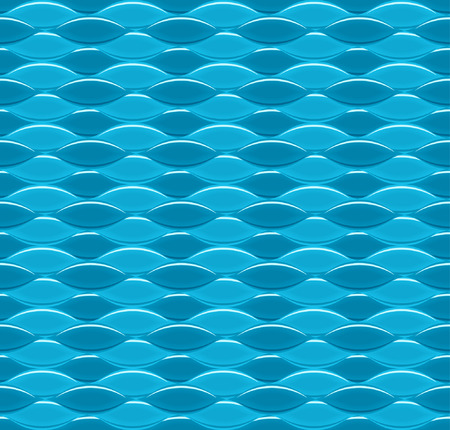 Vector seamless abstract blue wavy background.