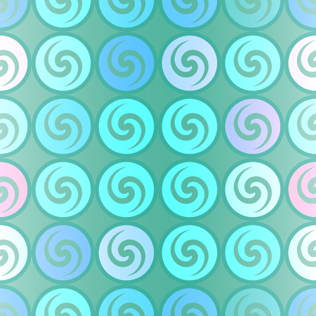 Green spiral pattern. Illustration