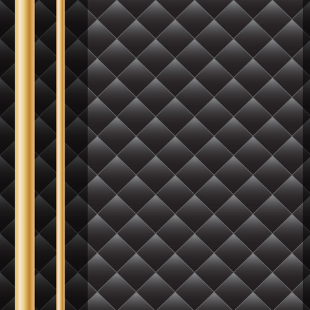 Geometric black and gold vector background. Seamless pattern. Illustration