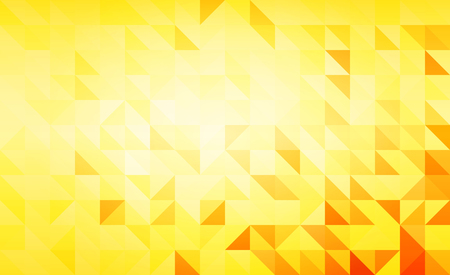Vector polygonal yellow abstract background.