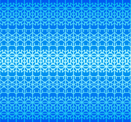Blue seamless geometric abstract pattern. Vector.