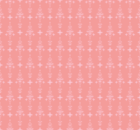 Pink decorative vector seamless pattern. Illustration