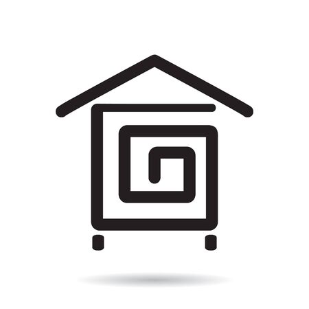 Stylized icon of a house. Vector. Stock Illustratie