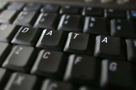data: data word on laptop keyboard