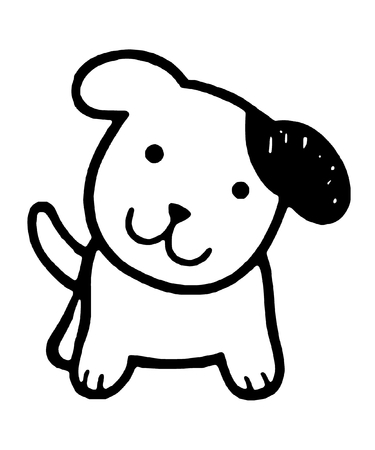 Cute Dog Vector Illustration  イラスト・ベクター素材